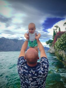 Father and son time in Riva del Garda