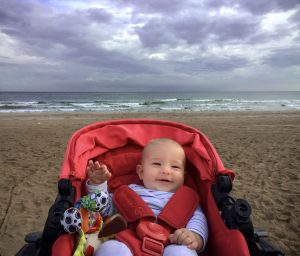 Baby at the beach in Rimini