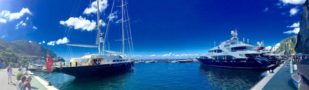 Capri island marina