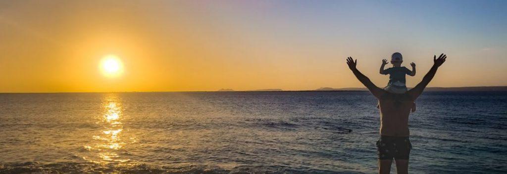 Sunset on Bonaire island