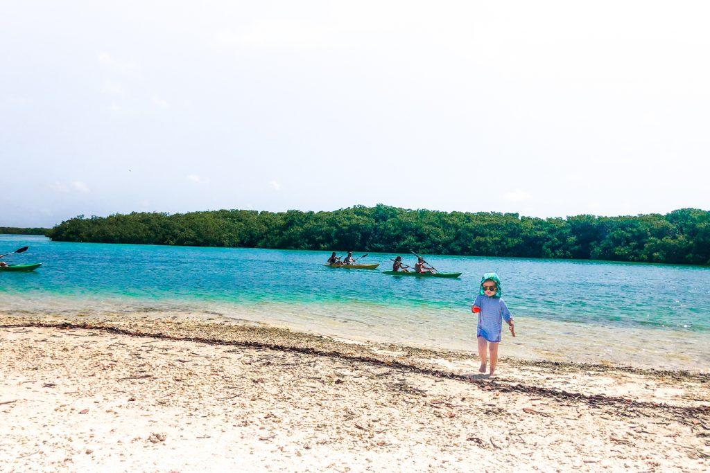 Kayaking near Cai Beach Bonaire