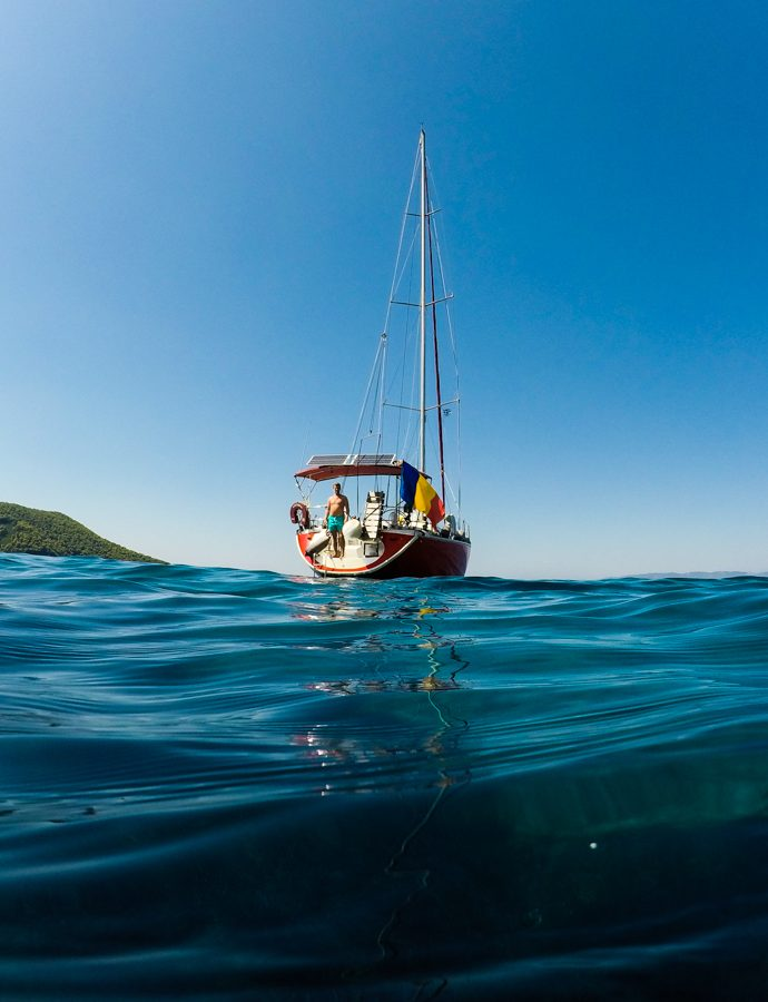 Sailing around Sporades with a toddler