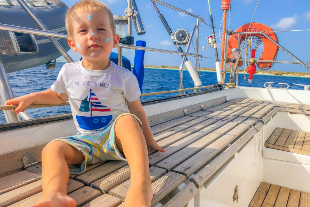 sailing caribbean child