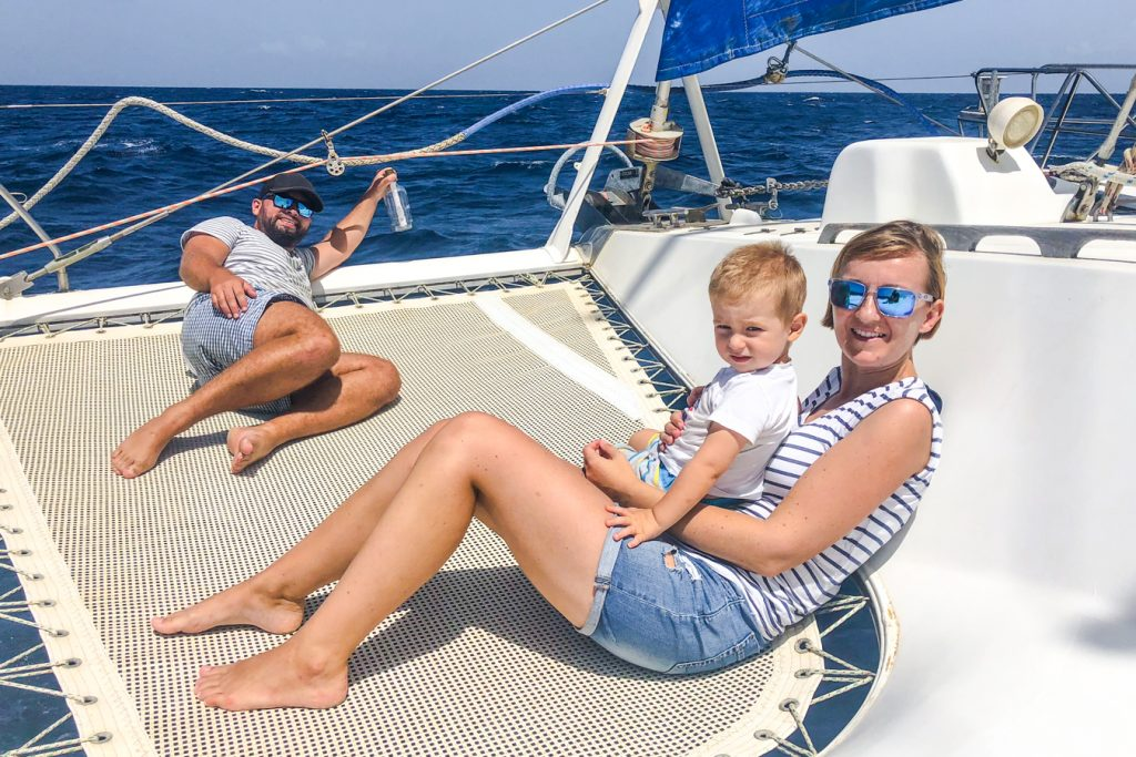 Sailing caribbean toddler