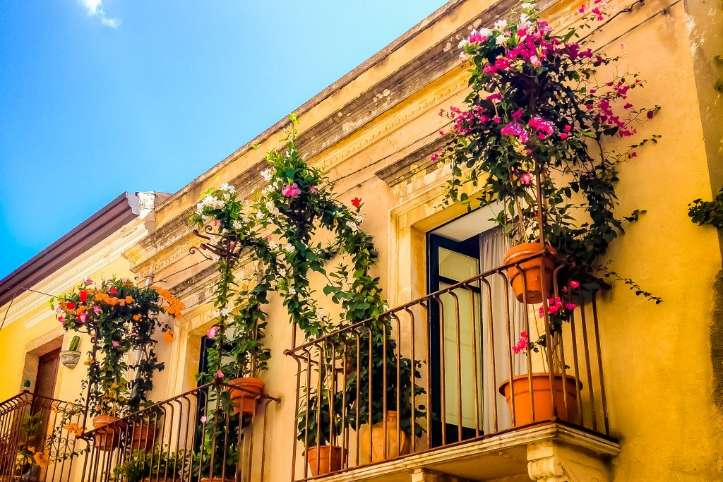 House with flowers in Taormina