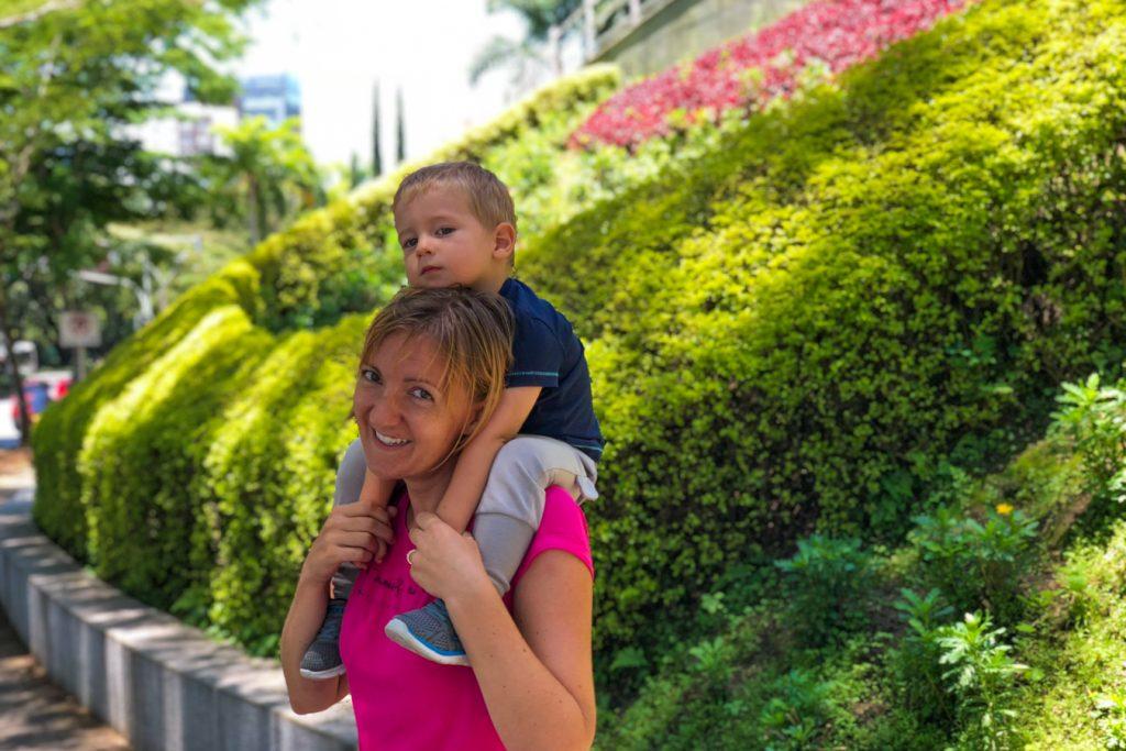 Walking in Medellin