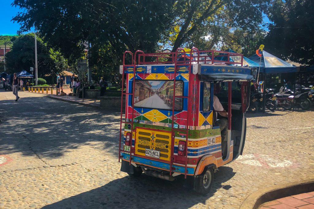 Tuk-tuk in Guatape
