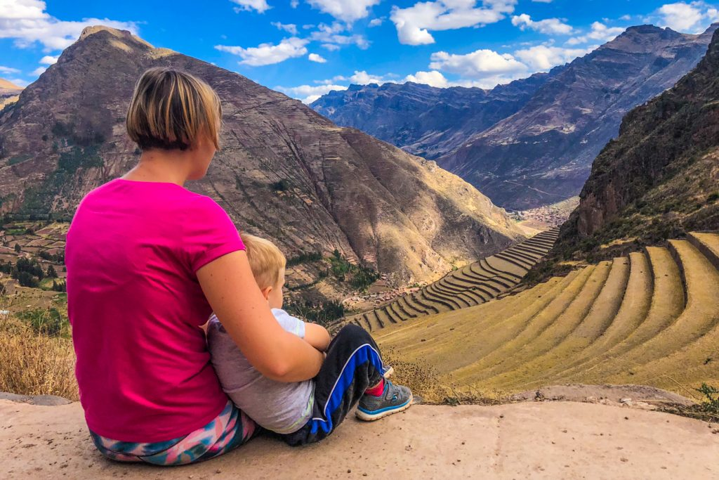 Pisac, Sacred Valley with a toddler