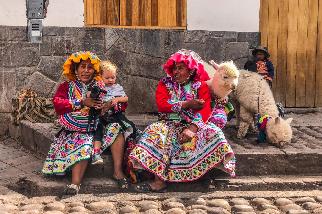 Traditional clothing at Pisac Market