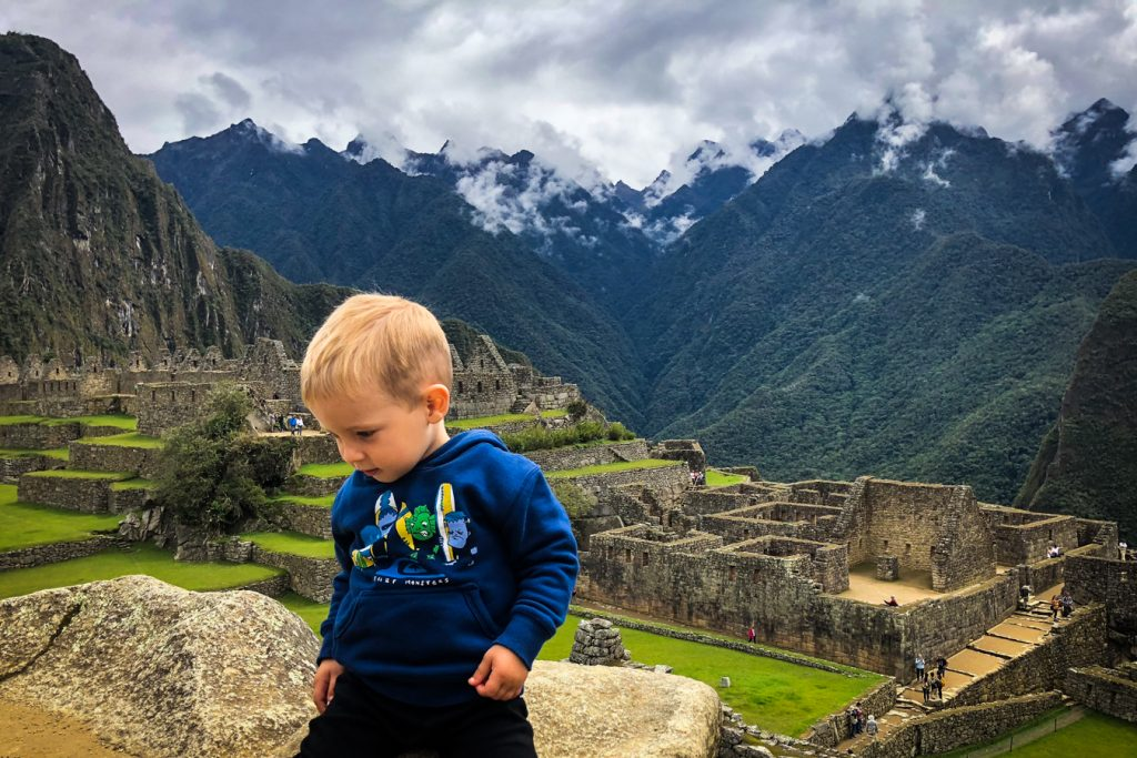 Machu Picchu with a toddler