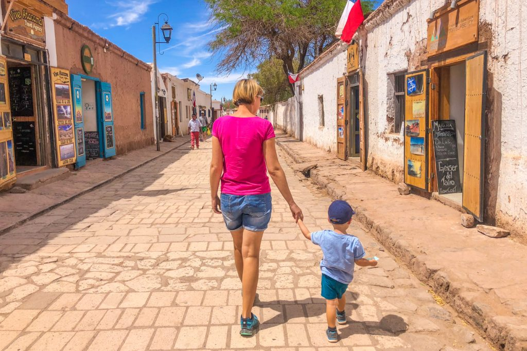 San Pedro de Atacama with a toddler
