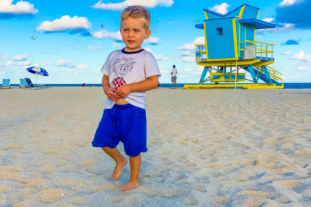 Child on the Beach in Miami