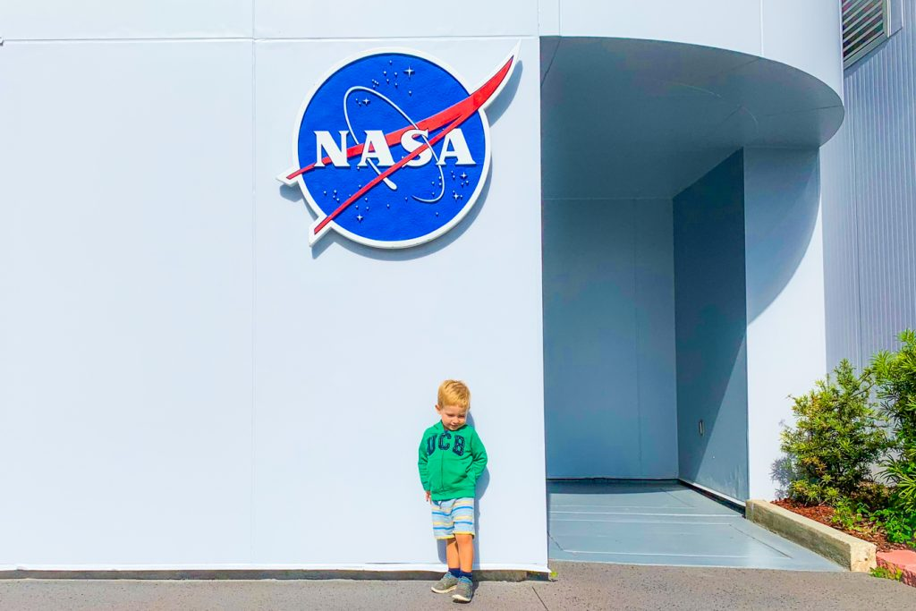 Child at Kennedy Space Center
