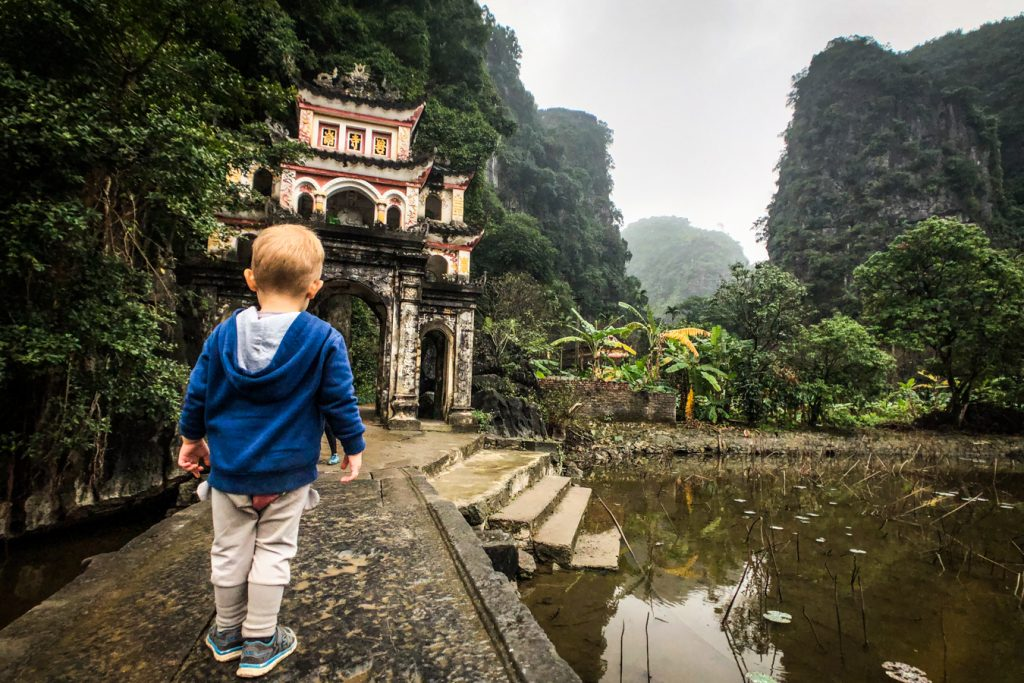 Ninh Binh with a toddler