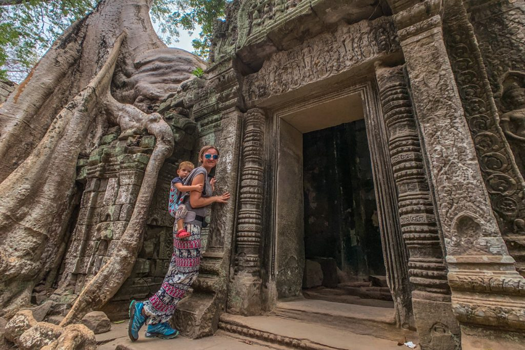 angkor wat with family