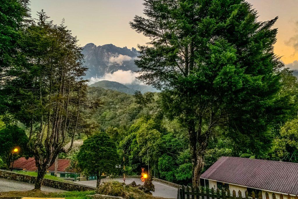 kinabalu mountain from sutera sanctuary