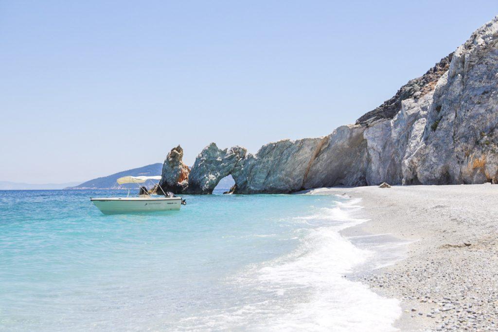 plajă skiathos barcă