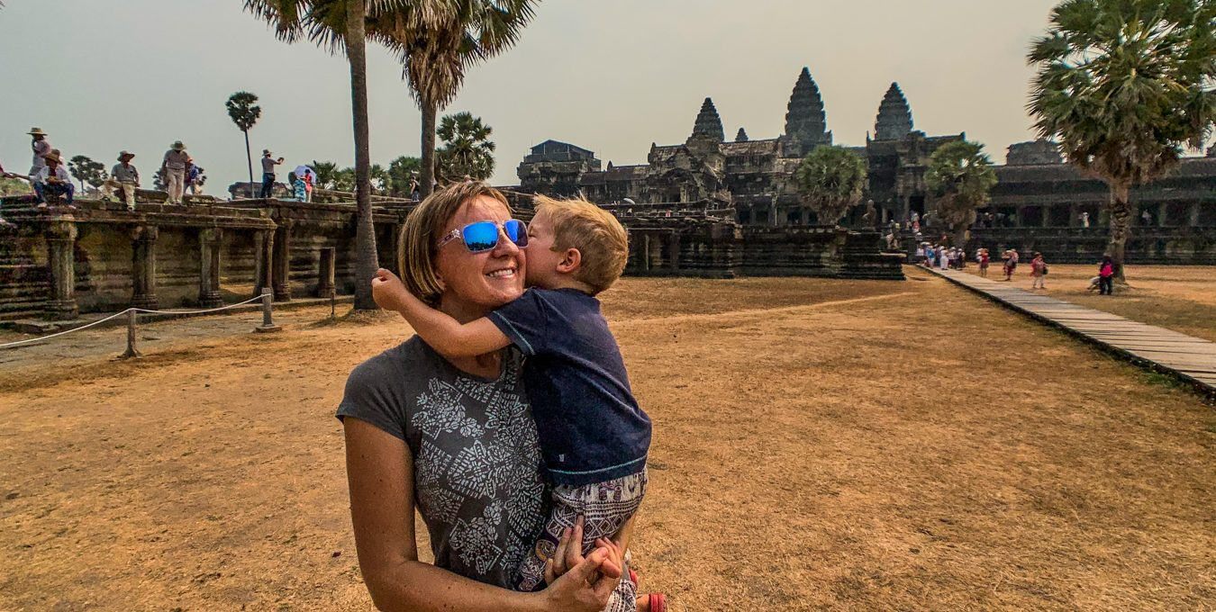 Siem Reap with a toddler